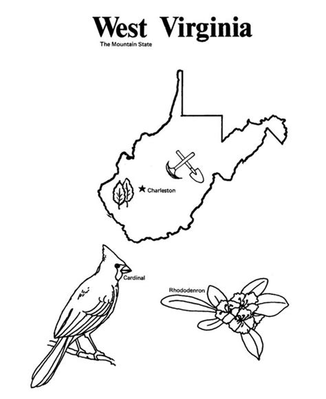 west virginia virginia and state outline on