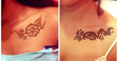henna tattoos halifax henna on collarbone floral henna chest