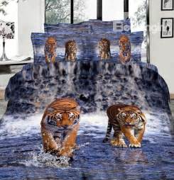 imperial lifelike tiger 3d printed 4 cotton duvet