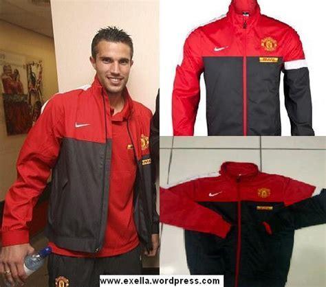Jaket Manchester United Sideline Merah Hitam Keren Murah Bagus Baru sideline exella