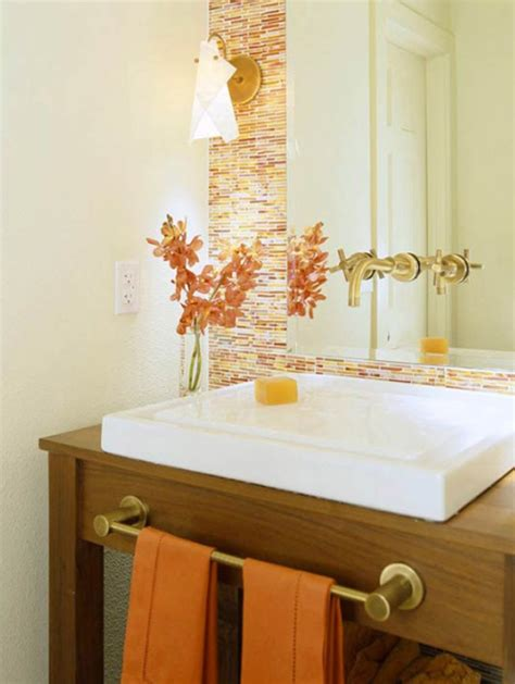 orange bathroom decor ideas