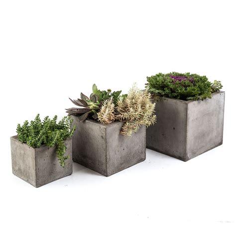 eco concrete cubo planter s 3 eco concrete planter