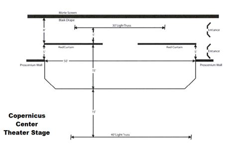 stage floor plan theater rental copernicus center chicago