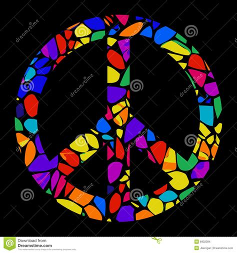 mosaic peace sign stock images image 6902284