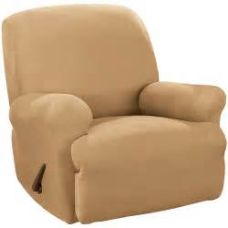 sure fit stretch suede recliner slipcover walmart
