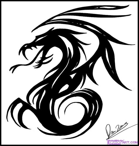 simple tribal dragon tattoo how to draw tribal step by step tribal