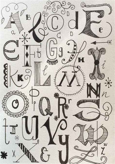 how to do doodle lettering handlettering alphabet calligraphy my own work