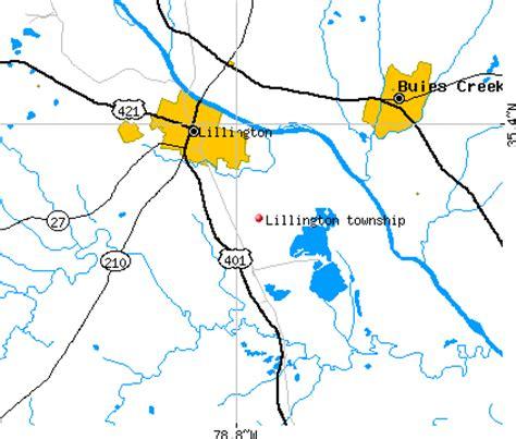 map of carolina lillington lillington township harnett county carolina nc