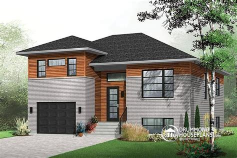 split level garage w3490 contemporary 3 bedroom split level house plan