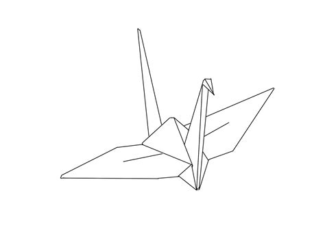 Drawing Origami - origami crane drawing www imgkid the image kid has it