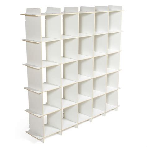 modern white shelving unit white 25 cubby modern shelving unit by sprout