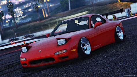 stanced rx7 mazda rx7 fd3s stanced cambered для gta 5