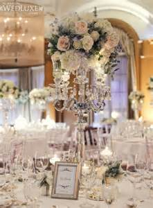 Moroccan Drapery Tall White Wedding Centerpieces With Crystal Hanging