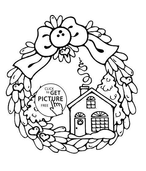 preschool wreath coloring page wreath winter day coloring pages for kids printable free