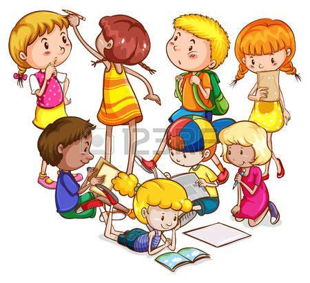 imagenes escolares animadas niña estudiando lectura y escritura ni 241 os y ni 241 as haciendo diferentes