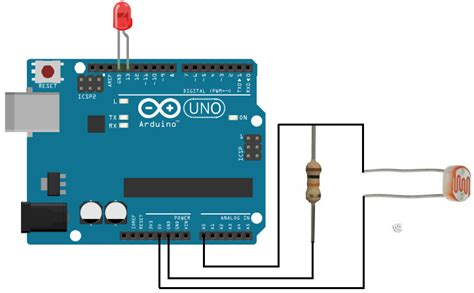 light detecting resistor arduino light detector circuit