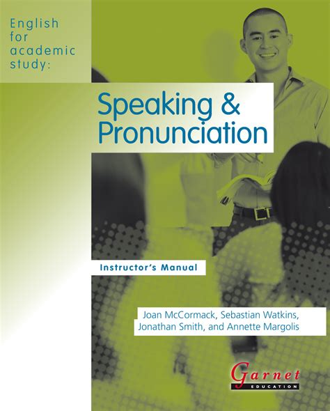 For Academic Purposes Jonathan Sarwono for academic study speaking pronunciation american edition instructor s manual
