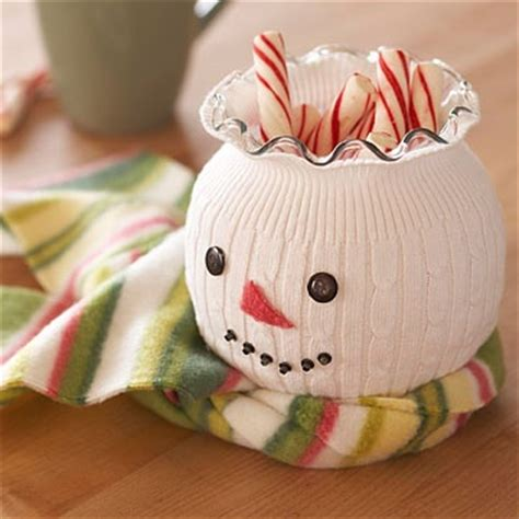 omg cute diy snowman stretch a sock or sweater sleeve