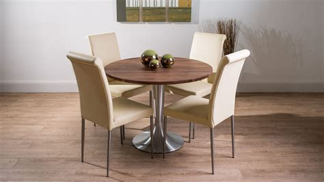 Solid Walnut Dining Table And Chairs Modern Large Solid Walnut Dining Table And Real Leather Chairs