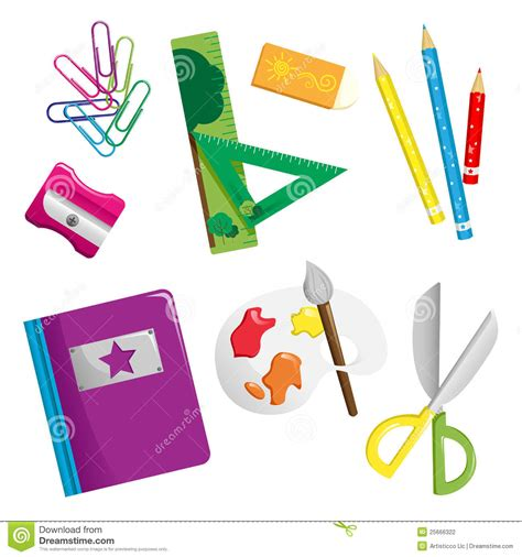 school supplies icon set back school supplies icons stock vector illustration of paint