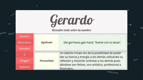 el significado de pattern en español significado de gerardo nombre espa 241 ol para tu bebe ni 241 o o