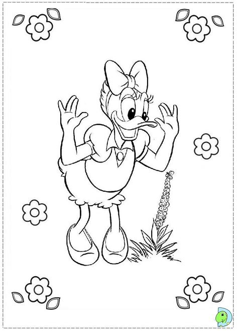 free coloring pages of baby baby daisy duck