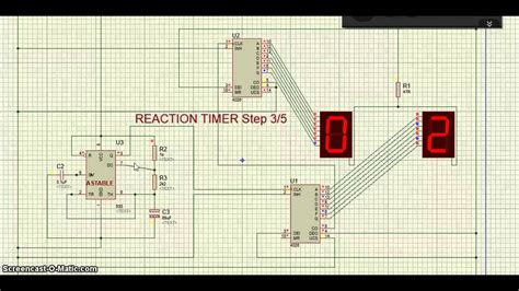 Pisau Ic 7 In 1 proteus ic 4026 reaction timer circuit