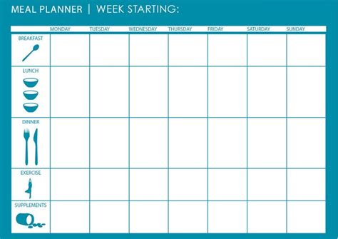 monthly weekly meal planner template planners diaries calendars journals pinterest