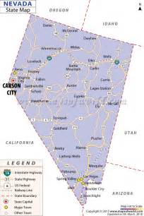 map with all cities and towns nevada state map
