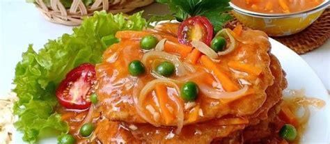resep fuyunghai ayam udang saus asam manis spesial ala