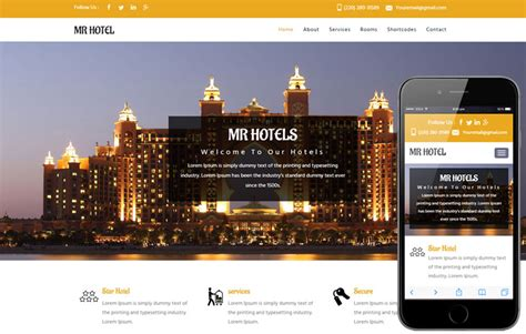 Bootstrap Templates For Hotel Management | mr hotel a hotel category flat bootstrap responsive web