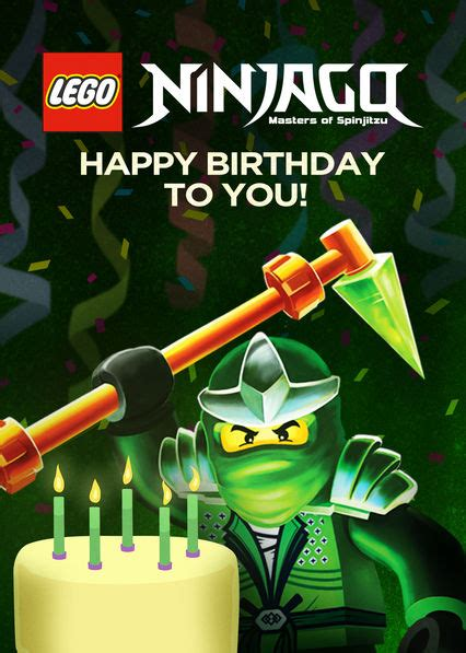 lego ninjago masters  spinjitzu happy birthday       canadian