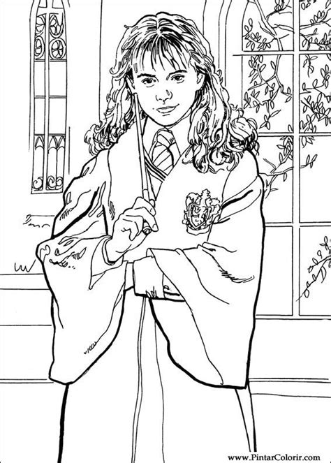 harry potter coloring pages sorcerer drawings to paint colour harry potter print design 011