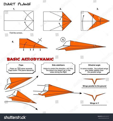How To Make A Origami Jet Plane - origami plane steps stock photo 400165237