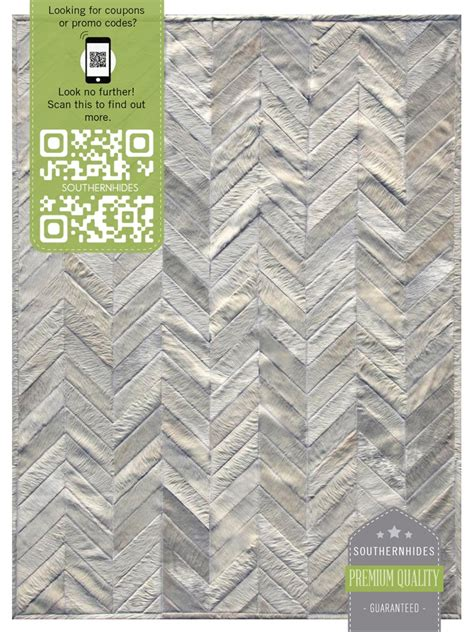 cowhide rugs nyc chevron cowhide rug richly textured chevron pattern