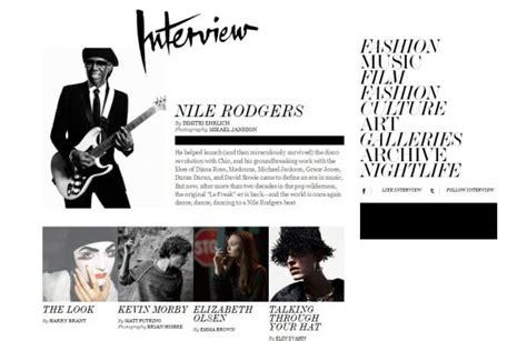 design magazine interview 20 exles of print inspired web design