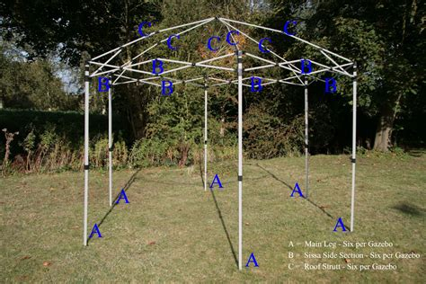 gazebo frames gazebo metal frame replacement parts metal gazebo kits