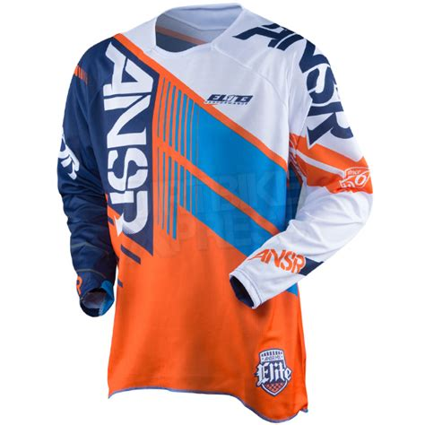motocross jerseys and 2016 answer elite jersey orange cyan white dirtbikexpress