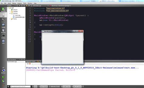 qt programming stack overflow windows error callnamedpipe failed error 2 qt