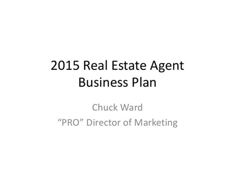 Sle Business Plan Real Estate Agent | why real estate agents need business plans 2015