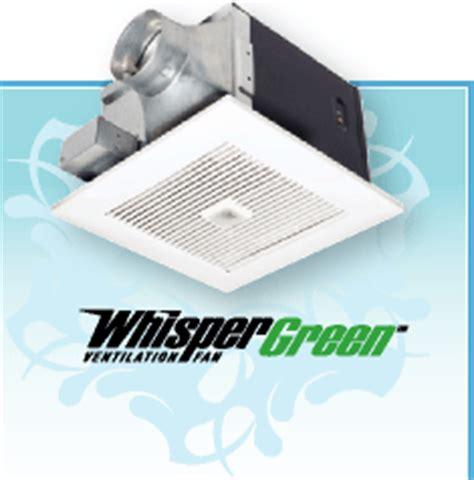 panasonic whisper green fan whisper bathroom fans bath fans