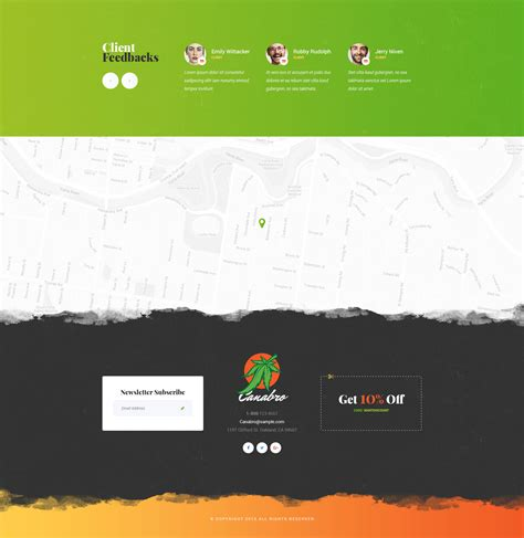 Canabro Marijuana Html Template Modern Web Templates Marijuana Website Templates