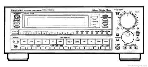 pioneer vsx  manual audio video stereo receiver