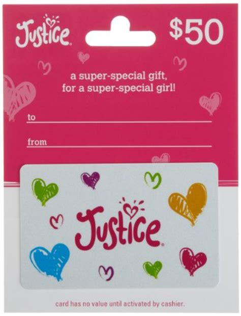 Who Sells Justice Gift Cards - justice limited too gift card 50 shop giftcards