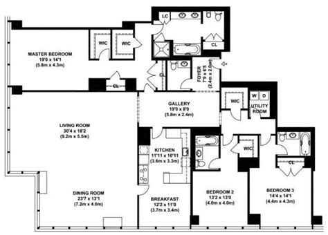 4 bedroom apartments in manhattan 1000 images about apartment floor plans on pinterest