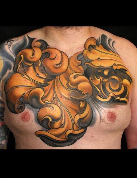 russ abbott tattoo ornamental chest by russ abbott tattoonow