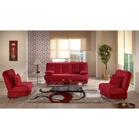 red living room chair 1 445 50 vegas convertible living room set rainbow red