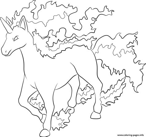 coloring page info 078 rapidash pokemon coloring pages printable