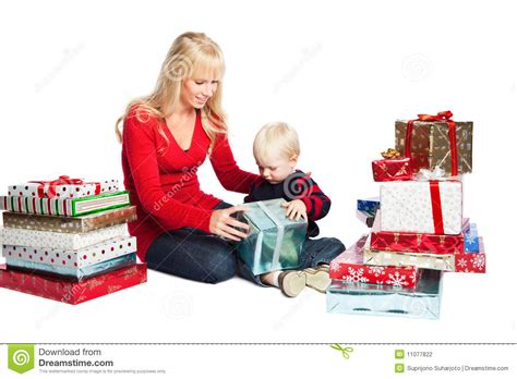 christmas family gifts stock photography image 11077822