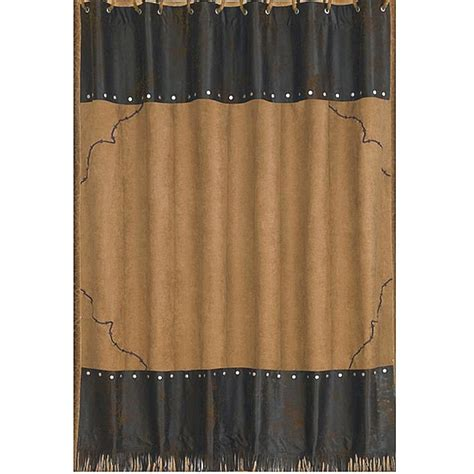 barbwire western bath decor shower curtain